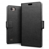 Hoesje LG Q6 flip wallet zwart