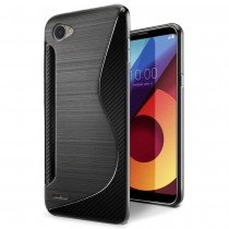Hoesje LG Q6 TPU case zwart