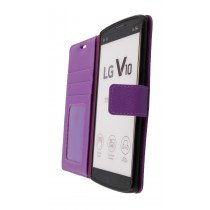 Hoesje LG V10 flip wallet paars