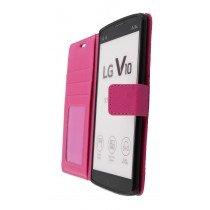 Hoesje LG V10 flip wallet roze