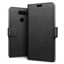 Hoesje LG V30 flip wallet zwart