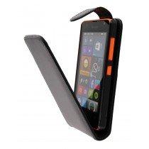 Hoesje Microsoft Lumia 430 flip case zwart - Open
