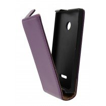 Hoesje Microsoft Lumia 435 flip case dual color paars
