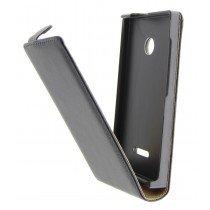 Open - Hoesje Microsoft Lumia 435 flip case dual color zwart