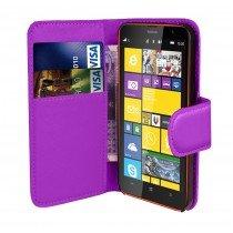 Hoesje Microsoft Lumia 435 flip wallet paars