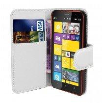 Hoesje Microsoft Lumia 435 flip wallet wit