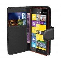 Hoesje Microsoft Lumia 435 flip wallet zwart
