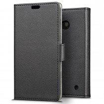 Hoesje Microsoft Lumia 550 flip wallet zwart