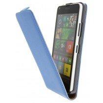Open - Hoesje Microsoft Lumia 640 flip case dual color blauw