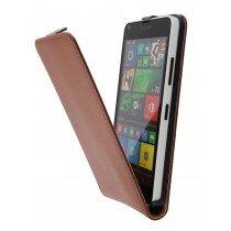 Hoesje Microsoft Lumia 640 flip case dual color bruin