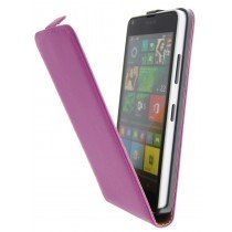 Open - Hoesje Microsoft Lumia 640 flip case dual color roze