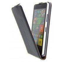 Open - Hoesje Microsoft Lumia 640 flip case dual color zwart