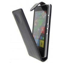 Open - Hoesje Microsoft Lumia 640 flip case zwart