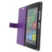 Open - Hoesje Microsoft Lumia 640 flip wallet paars
