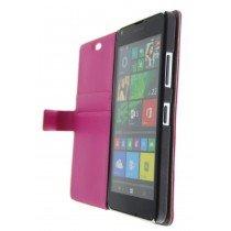 Open - Hoesje Microsoft Lumia 640 flip wallet roze