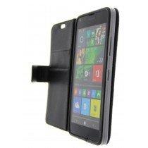 Open - Hoesje Microsoft Lumia 640 flip wallet zwart
