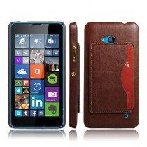 Hoesje Microsoft Lumia 640 hard cover leer bruin