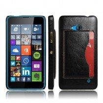 Hoesje Microsoft Lumia 640 hard cover leer zwart