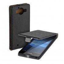 Hoesje Microsoft Lumia 950 flip case dual color zwart