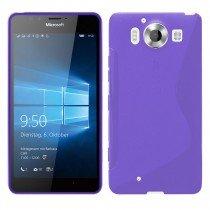Hoesje Microsoft Lumia 950 TPU case paars