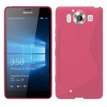 Hoesje Microsoft Lumia 950 TPU case roze
