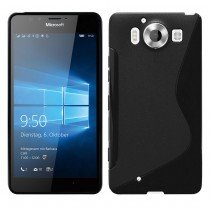 Hoesje Microsoft Lumia 950 TPU case zwart