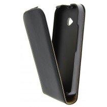 Hoesje Motorola Moto E (2015) flip case dual color zwart