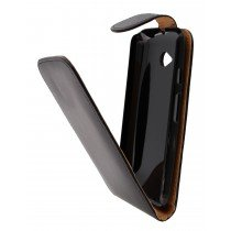 Hoesje Motorola Moto E (2015) flip case zwart - Open