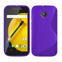 Hoesje Motorola Moto E (2015) TPU case paars