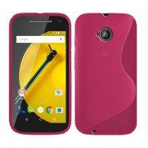 Hoesje Motorola Moto E (2015) TPU case roze