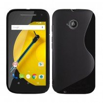 Hoesje Motorola Moto E (2015) TPU case zwart