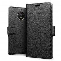 Hoesje Motorola Moto E4 flip wallet zwart
