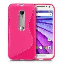 Hoesje Motorola Moto G 3rd gen TPU case roze