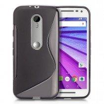 Hoesje Motorola Moto G 3rd gen TPU case zwart