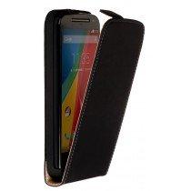 Hoesje Motorola Moto G 4G (2015) flip case dual color zwart