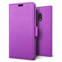 Hoesje Motorola Moto G4 Play flip wallet paars