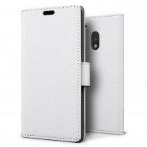 Hoesje Motorola Moto G4 Play flip wallet wit