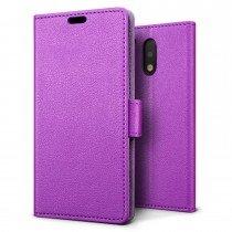 Hoesje Motorola Moto G4 Plus flip wallet paars