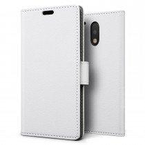 Hoesje Motorola Moto G4 Plus flip wallet wit