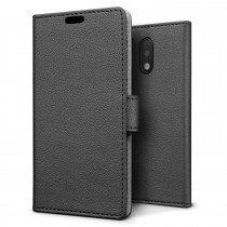 Hoesje Motorola Moto G4 Plus flip wallet zwart