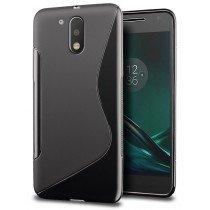 Hoesje Motorola Moto G4 Plus TPU case zwart