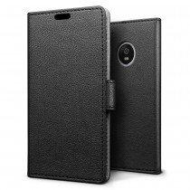 Hoesje Motorola Moto G5 flip wallet zwart