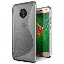 Hoesje Motorola Moto G5 Plus TPU case smoke