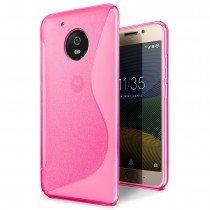 Hoesje Motorola Moto G5 TPU case roze