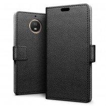 Hoesje Motorola Moto G5s Plus flip wallet zwart