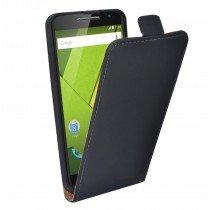 Open - Hoesje Motorola Moto X Play flip case dual color zwart
