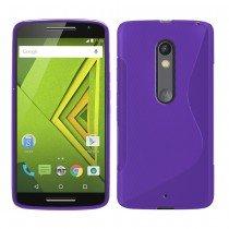 Hoesje Motorola Moto X Play TPU case paars