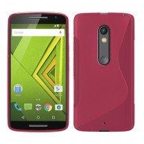 Hoesje Motorola Moto X Play TPU case roze