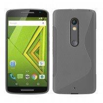 Hoesje Motorola Moto X Play TPU case transparant