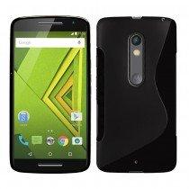Hoesje Motorola Moto X Play TPU case zwart